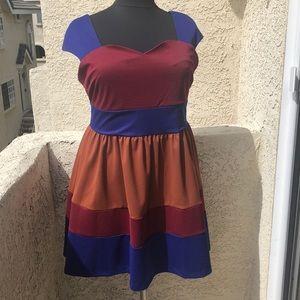 ModCloth Fervour color block dress